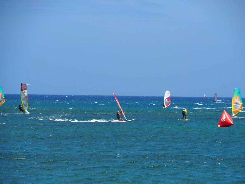 Lanzarote Las Cucharas Windsurfen Finn Ozeanien Tours