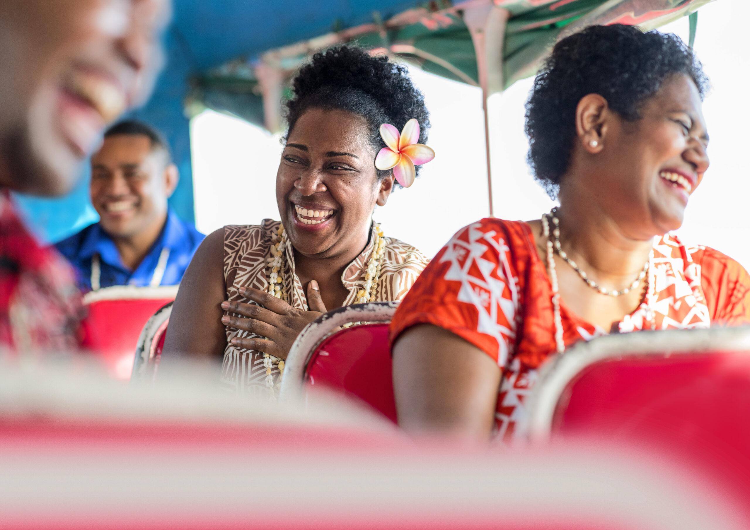 Fiji Viti Levu Locals im Bus