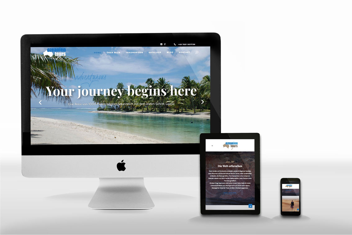 Neue Website Traumreisen Ozeanien Tours