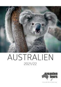 Australienkatalog Titelbild Koala Ozeanien Tours 2021 & 2022