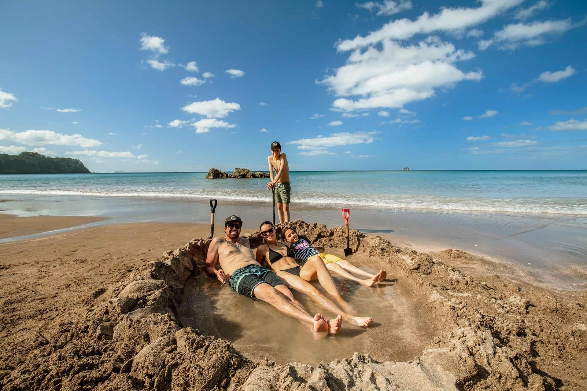 Neuseeland Hot Water Beach Coromandel